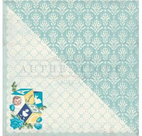 Papier double 30x30 'Authentique - Swaddle Boy' Two