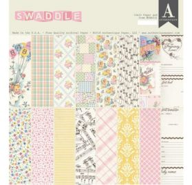 Assortiment de 24 papiers doubles 30x30 'Authentique - Swaddle Girl'