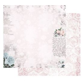 Papier double 30x30 'Prima - Poetic Rose' Waiting for the One