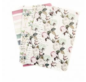 Lot de 3 Carnets 'Prima - Traveler's Journal' Poetic Rose 17.5x12.5 cm