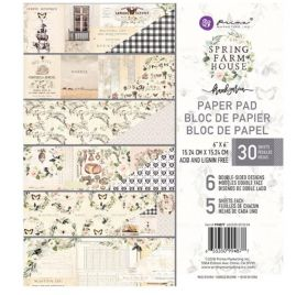 Assortiment de 30 papiers doubles 15x15 'Prima - Spring Farmhouse'