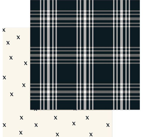 Papier double 30x30 'My Mind's Eye - Gingham Farms' Madi