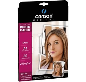 20 Papiers Photo 21x29.7 cm 'Canson' Satin 270 gr/m²