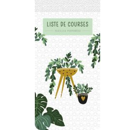 Bloc-notes Liste de courses 'PaperStore' Plantes 21.5x10.5 cm