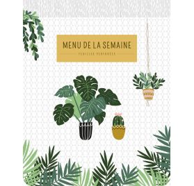Bloc-notes Menu de la semaine 'PaperStore' Plantes 21.5x17 cm