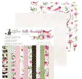 Assortiment de 24 papiers doubles 15x15 'Piatek - Hello Beautiful'