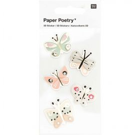 Autocollants 3D 'Rico Design - Paper Poetry' Papillons multicolores