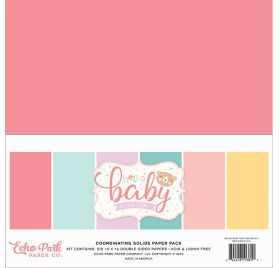 Assortiment de 6 papiers doubles 30x30 'Echo Park Paper - Hello Baby It's a girl'