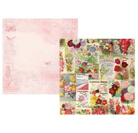 Papier double 30x30 'Simple Stories - Simple Vintage Botanicals ' Scatter Kindness