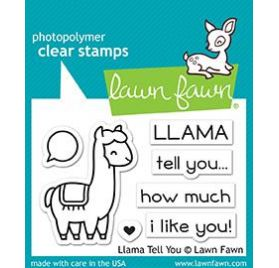 7 Tampons transparents 'Lawn Fawn' Llama tell you