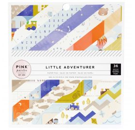 Assortiment de 36 papiers 15x15 'Pink Paislee - Little Adventurer'