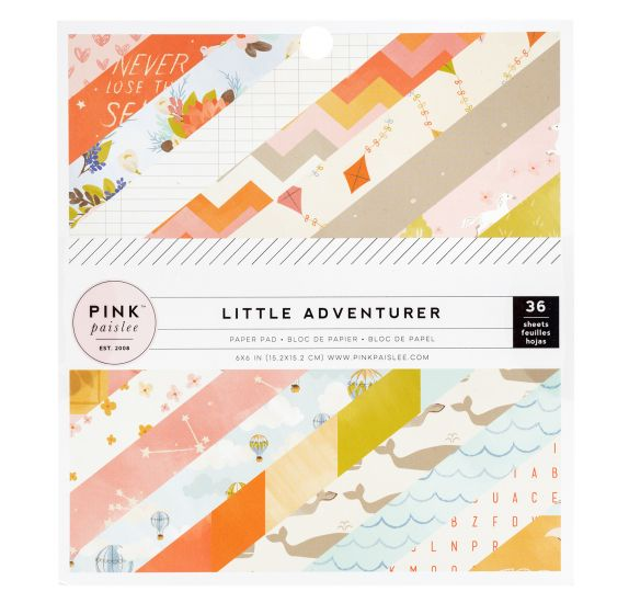 Assortiment de 36 papiers 15x15 'Pink Paislee - Little Adventurer' Girl