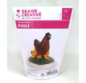 Moule latex 'Graine Créative by DTM' Poule