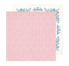 Papier double 30x30 'Crate Paper - Sunny Days' Coral
