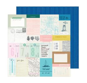 Papier double 30x30 'Crate Paper - Sunny Days' Beach Day