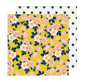Papier double 30x30 'Crate Paper - Sunny Days' Apple Blossom