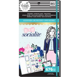 Bloc de 676 autocollants, bloc-notes et notes adhésives  'Me & My Big Ideas - The Happy Planner' Socialite