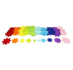 Lot de 150 motifs autocollants en feutrine 'Feutrines by Sodertex' Fleurs multicolores