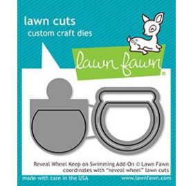 3 Dies / Matrices de découpe 'Lawn Fawn' Reveal Wheel Keep on Swimming Add-On