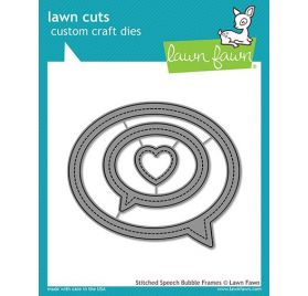 3 Dies / Matrices de découpe 'Lawn Fawn' Stitched Speech Bubble Frames