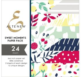 Assortiment  de 24 papiers doubles 15x15 'Altenew' Sweet Moments