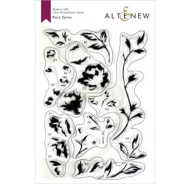 18 Tampons transparents 'Altenew' Rose Spray