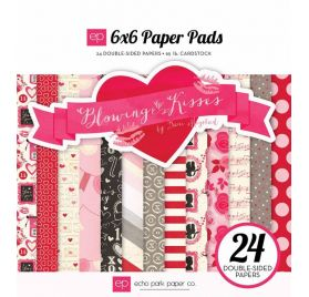 Assortiment 15x15 'Echo Park Paper - Blowing Kisses' Qté 24
