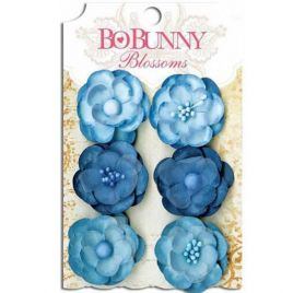 Lot de 6 fleurs 'BoBunny' Blossoms Denim Blue Pansy