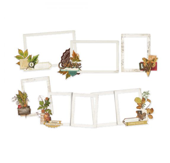 6 Die-cuts 'Simple Stories - autumn splendor' Layered Frames