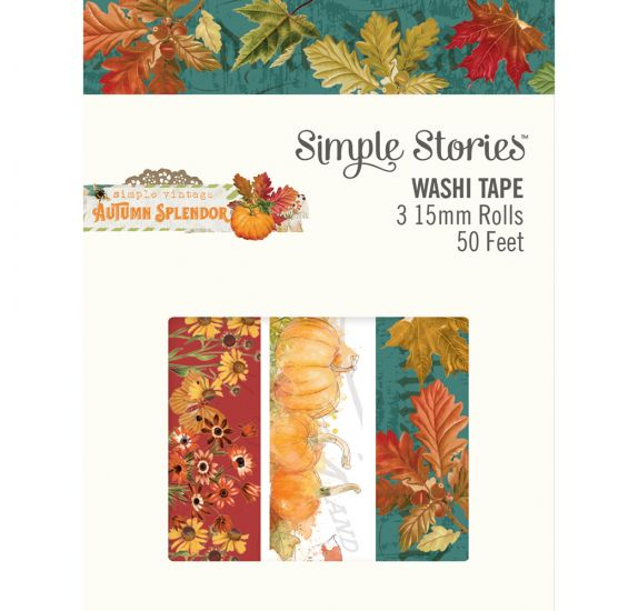 3  washi tape 'Simple Stories - autumn splendor' Layered Frames