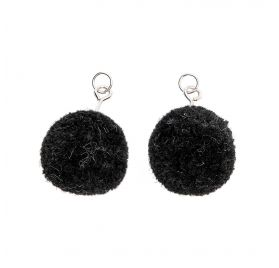 Mini pompons 'Rico Design' Noir