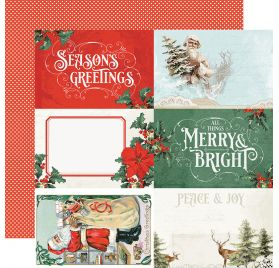 Papier double 30x30 'Simple Stories - Country Christmas' 4x6 Elements