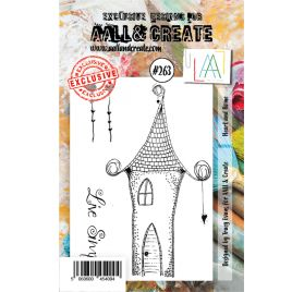 Tampon transparent 'AALL and Create' Heart and Home 263