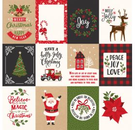 Papier double 30x30 ' Echo Park Paper - My Favorite Christmas' 3x4 Journaling Cards