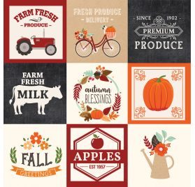 Papier double 30x30 ' Echo Park Paper - My Favorite Fall' 4x4 Journaling Cards