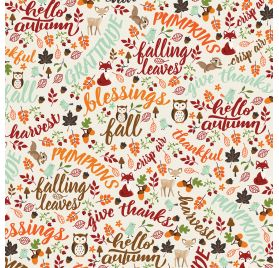 Papier double 30x30 ' Echo Park Paper - My Favorite Fall' Hello Autumn