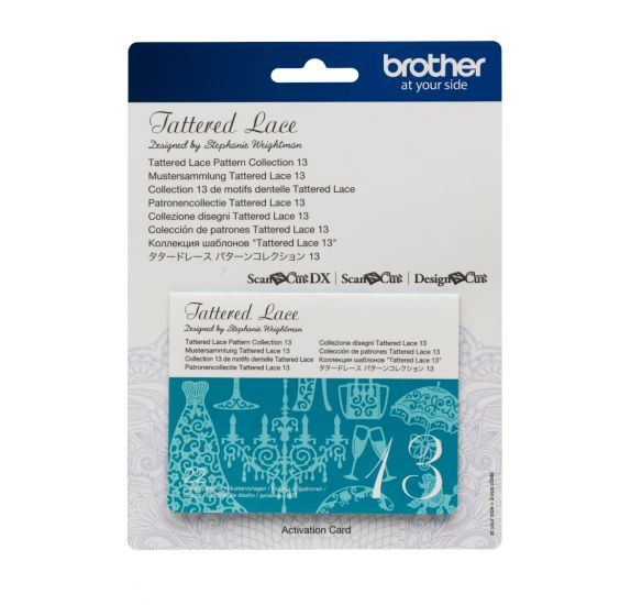 Carte 22 motifs dentelle collection 13 pour ScanNCut 'Brother' Tattered Lace