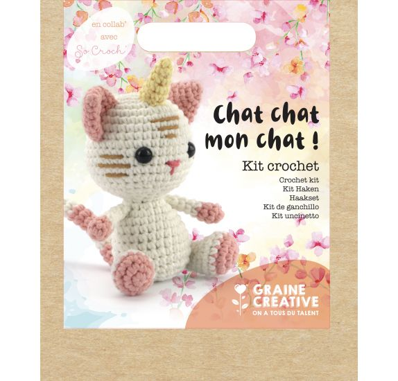 Kit Crochet  'Graine Créative by PW'  Chat Chat mon chat !