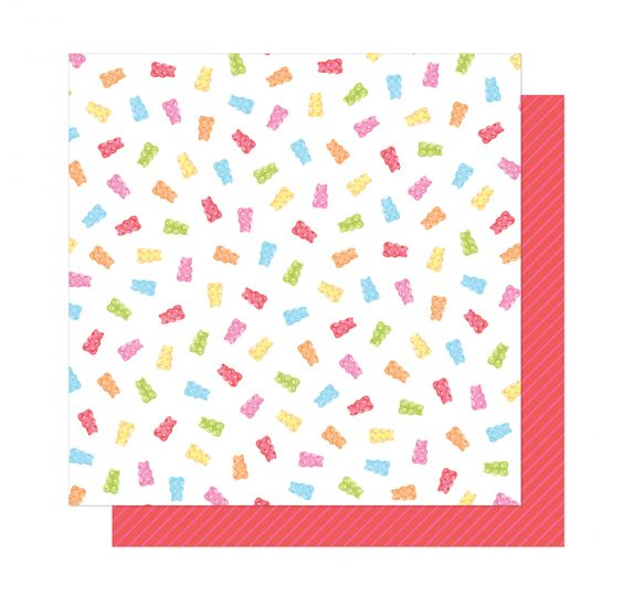 Papier double 30x30 'American Crafts - Here and Now' Candy Girl