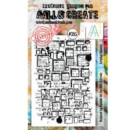 Tampon transparent 'AALL and Create' Scripted Squares