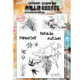 Tampons transparents 'AALL and Create' Pinecone 389