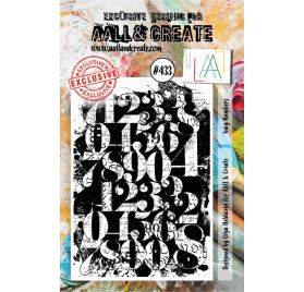 Tampon transparent 'AALL and Create' Inky Numbers 433