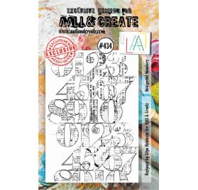 Tampon transparent 'AALL and Create' Newsprint Numbers 434