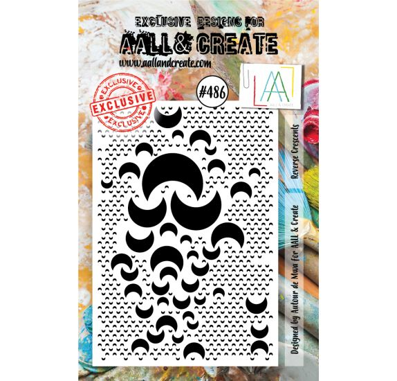Tampon transparent 'AALL and Create' Reverse Crescents 486