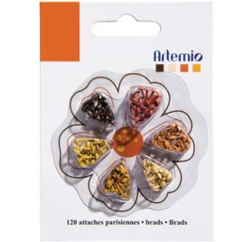 Mini attaches parisiennes - Artemio - Nature - Qté 120