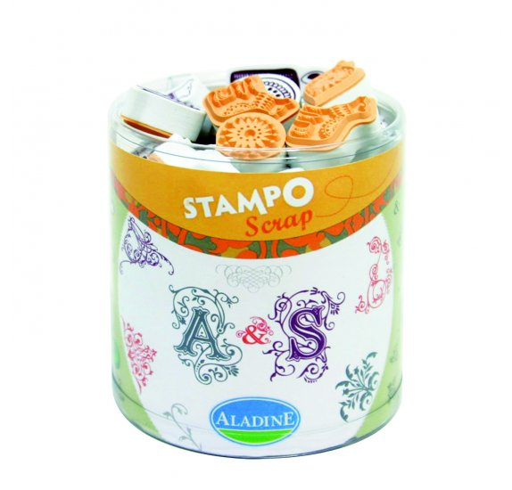 "Kit Stampo Scrap -Tampons ""Arabesque"" - Aladine"