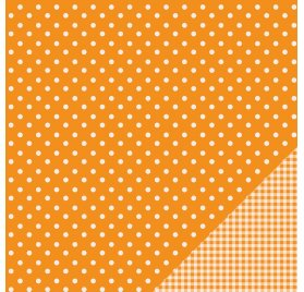 Papier double 30x30 - Pebbles - Pois Orange