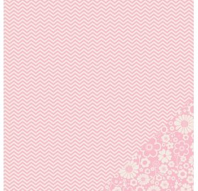 Papier double 30x30 - Pebbles - Chevron Rose