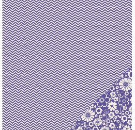Papier double 30x30 - Pebbles - Chevron Violet