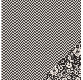 Papier double 30x30 - Pebbles - Chevron Noir